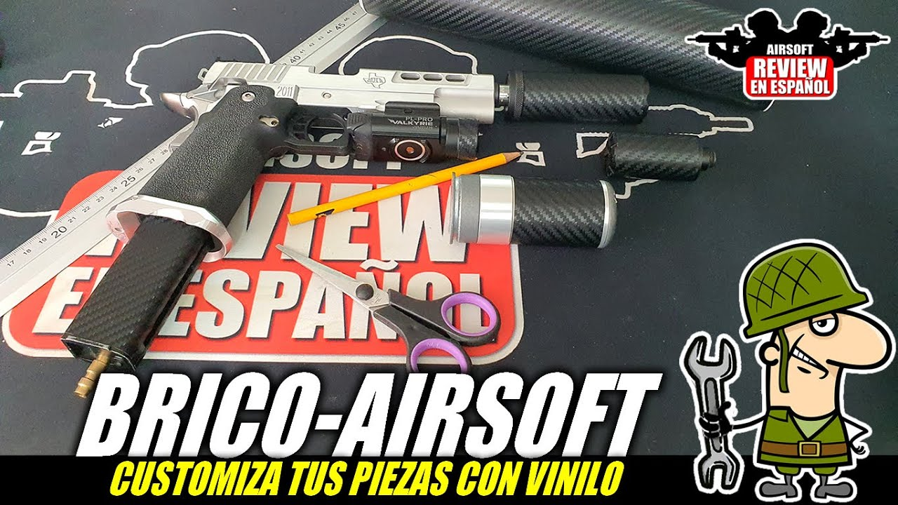 BRICOAIRSOFT 🔧 – PERSONNALISEZ vos répliques avec du vinyle! | Revue Airsoft en espagnol