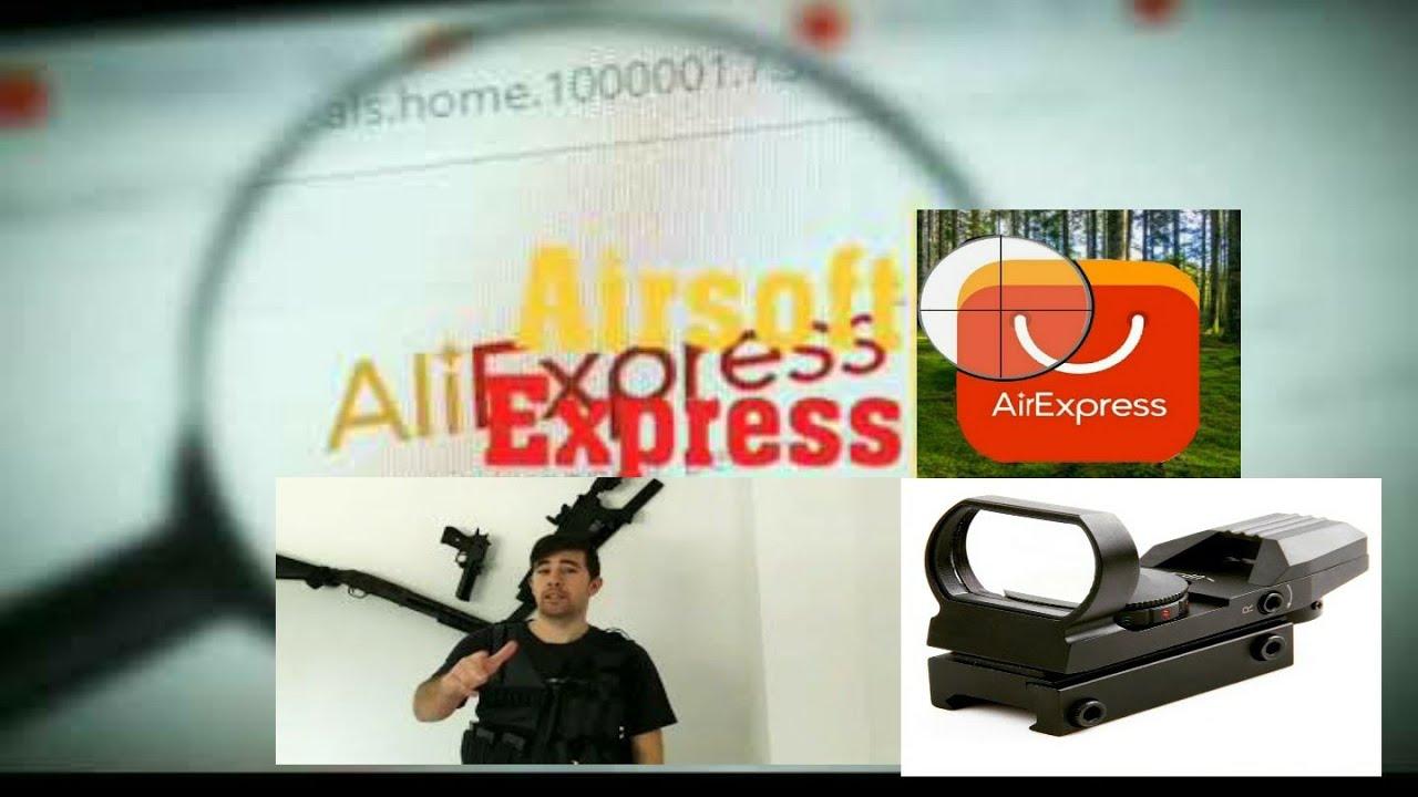 Examen regardez le point rouge économique Aliexpress. Airsoft Aliexpress