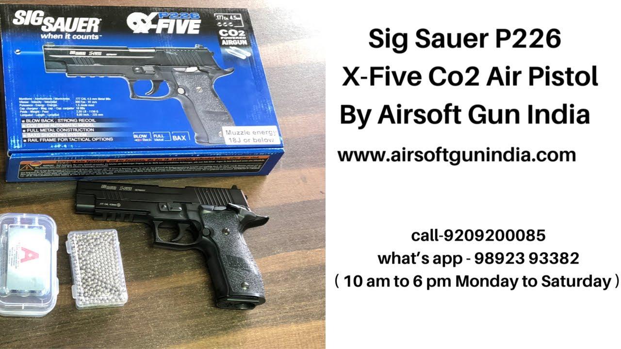 Pistolet à air comprimé Sig Sauer P226 X-Five Co2 par Airsoft Gun India