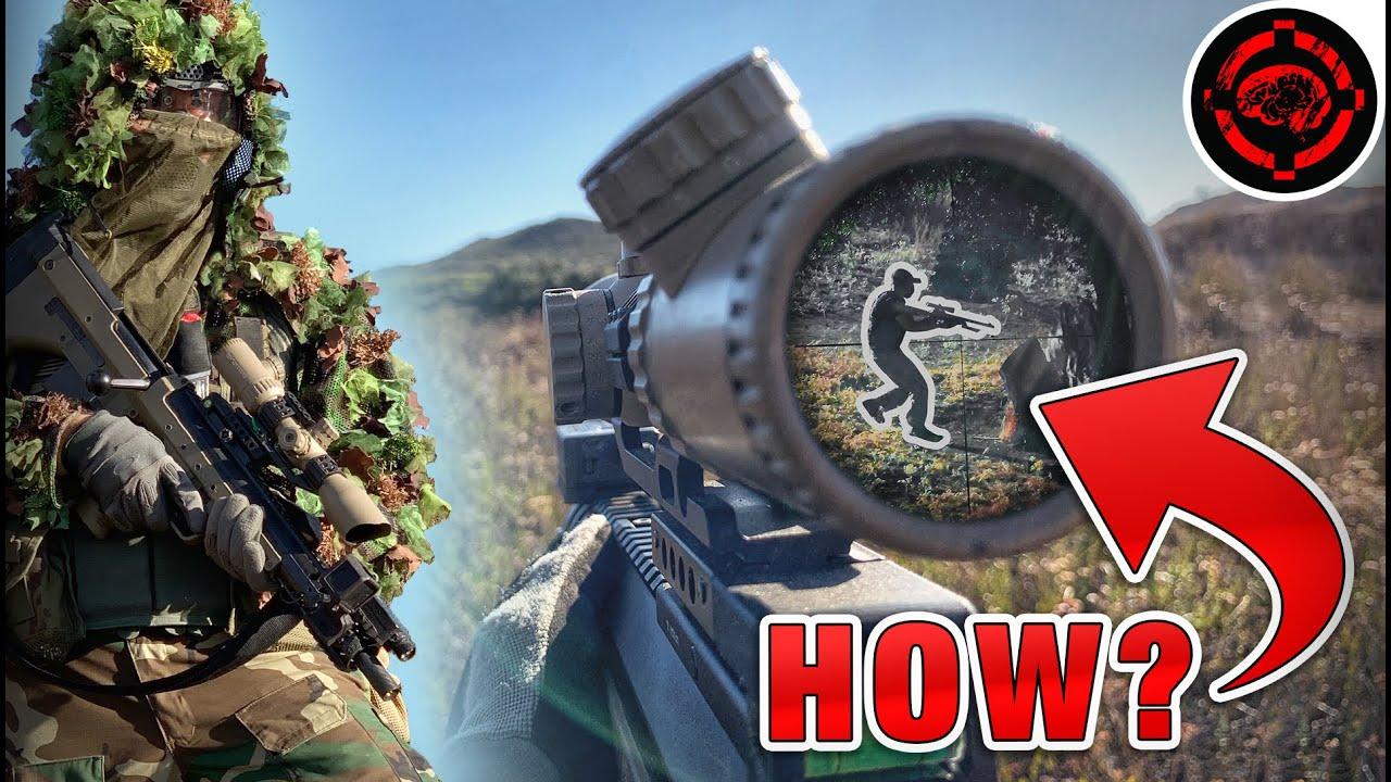 Grâce à la portée de l'Airsoft Sniper (double POV Sniper / Spotter Team Destroying)