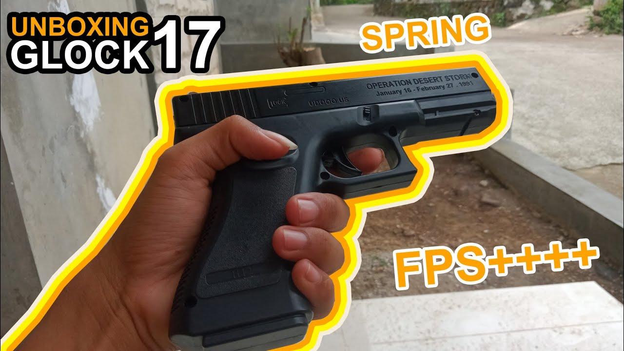 Glock 17 Spring Gel Gel Blaster à Airsoft Gun || Déballage et révision ~ Muh Am Around