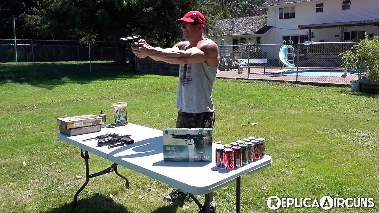 Umarex Beretta Mod. 92 A1 CO2 BB Pistol Full Auto Fun Video