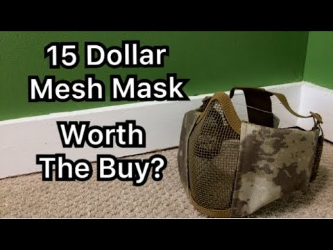 Masque en mesh Airsoft 15 dollars Déballage et avis