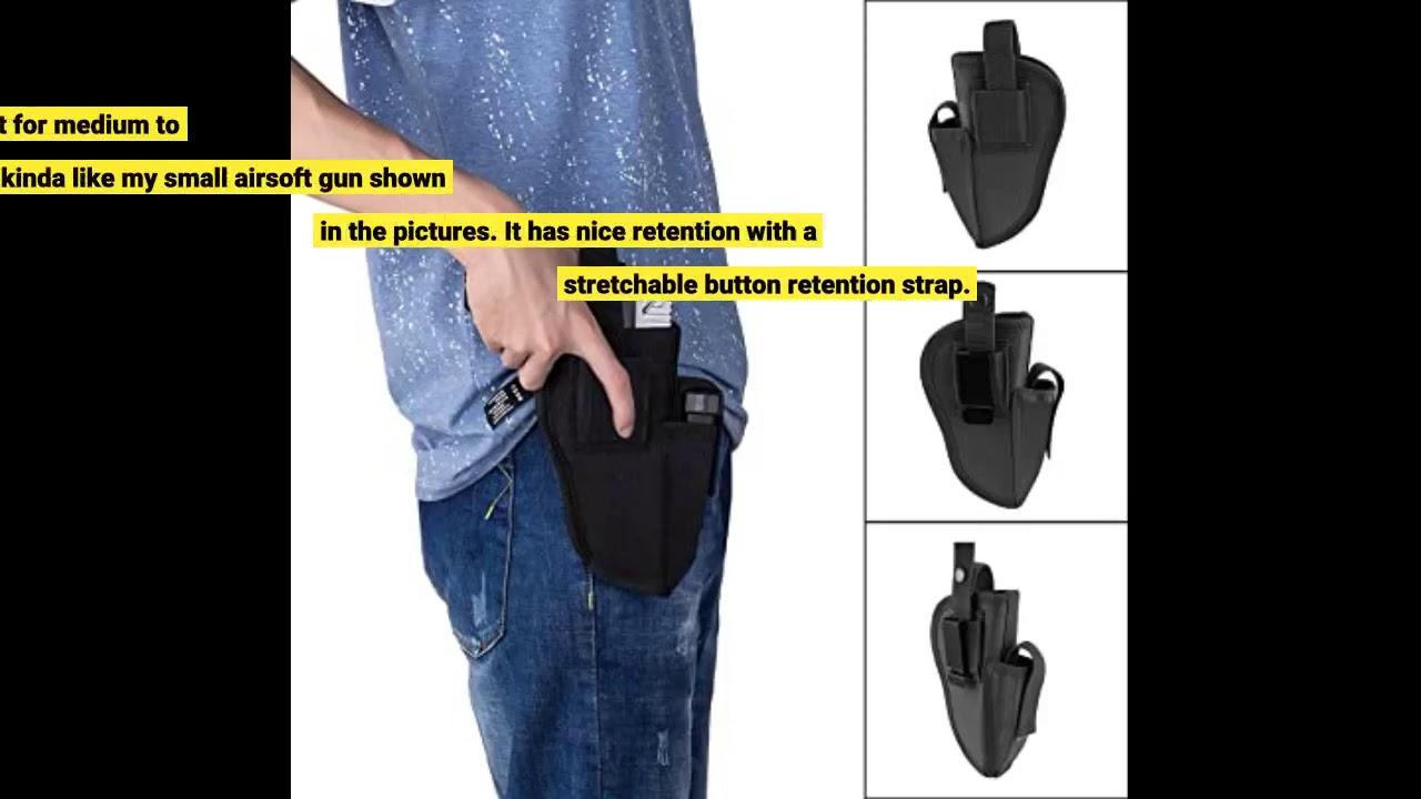 Revue: Étui de transport dissimulé Clip en métal IWB OWB Holster Waistband Airsoft Pistol Handguns Ho …