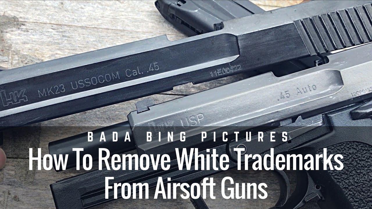 Comment faire pour supprimer les marques blanches des pistolets Airsoft