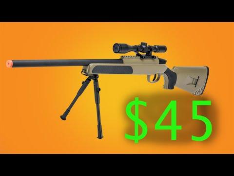 Le MEILLEUR fusil de sniper Airsoft à 45 $ – ZM51 Review & Unboxing