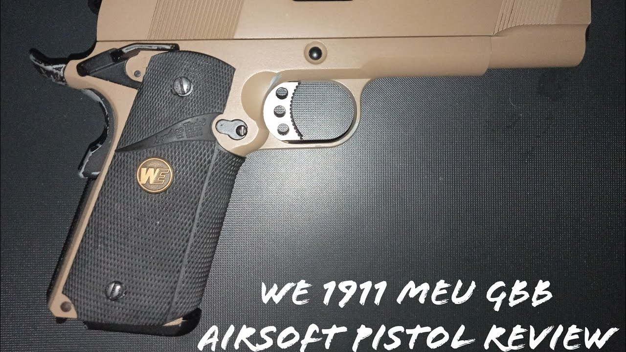 Revue du pistolet Airsoft WE 1911 MEB GBB