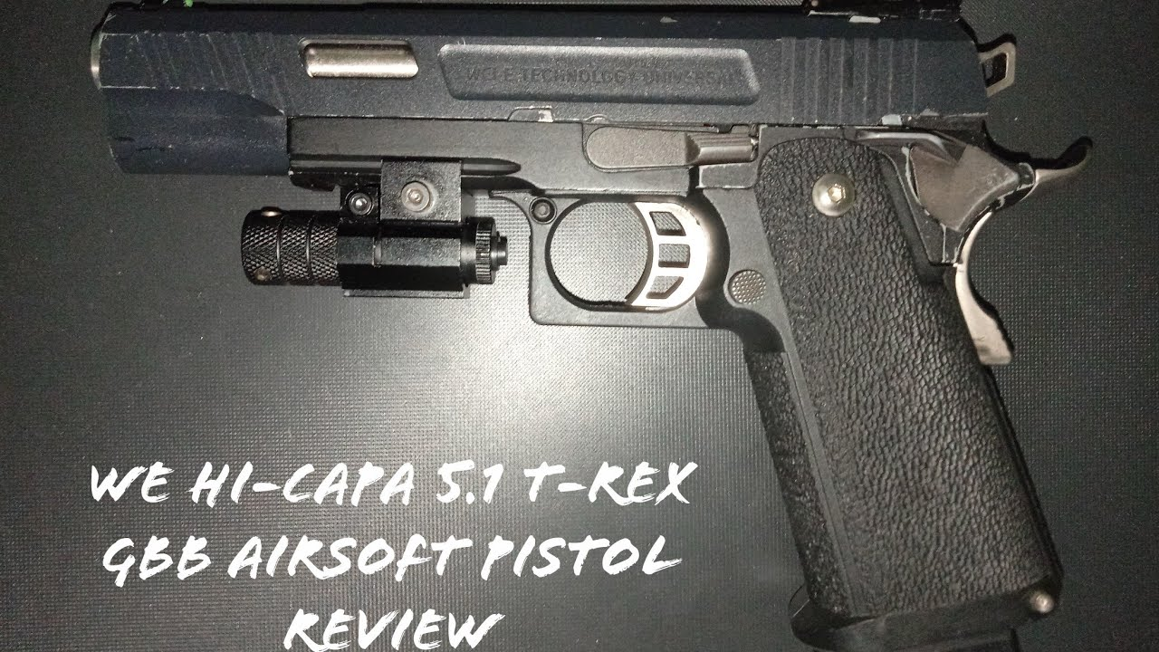 WE Hi-Capa 5.1 T-Rex GBB Airsoft Pistol Review
