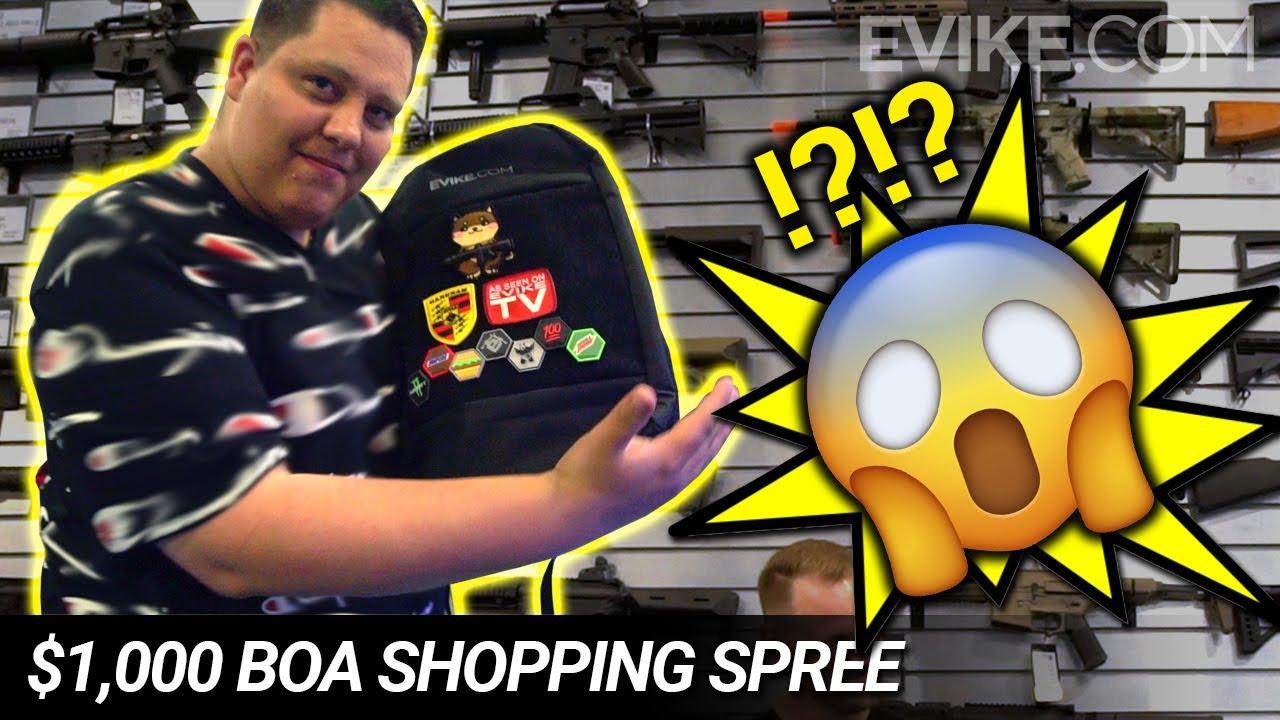 Il a fait QUOI avec sa virée shopping de 1000 $ sur Evike.com!? Gagnant de la boîte de Awesomeness!