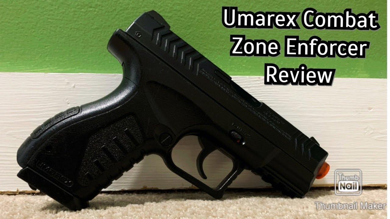 Revue du pistolet airsoft Umarex Combat Zone Enforcer Co2 Non Blowback