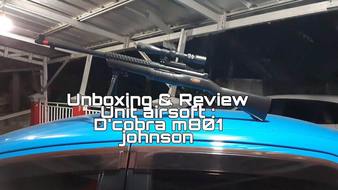 Déballage et révision D & # 39; cobra johnson m801   Airsoft indonésien