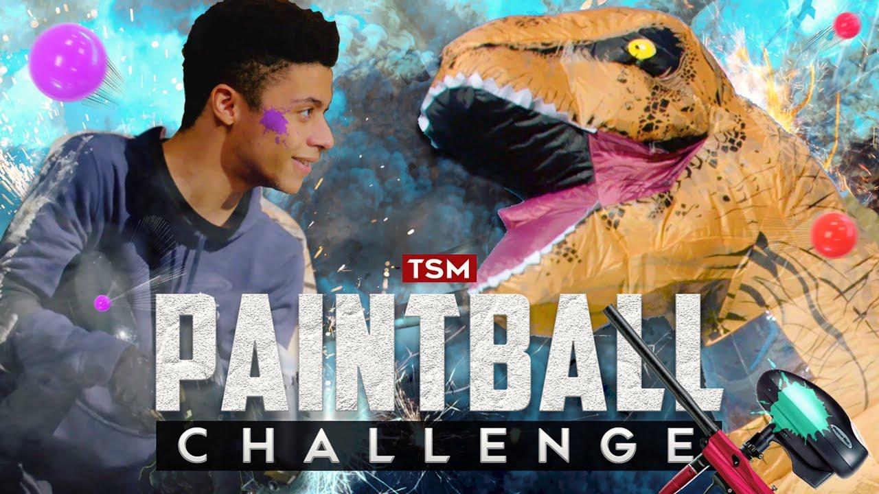 DINOSAURE VS. PRO GAMERS: Défi fou de paintball!   TSM MYTH