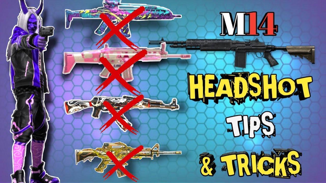 Conseils et astuces sur le pistolet M14✓ \ Headshot uniquement avec M14✓ \ Garena Free Fire // Scope X // Meilleur fusil d'assaut