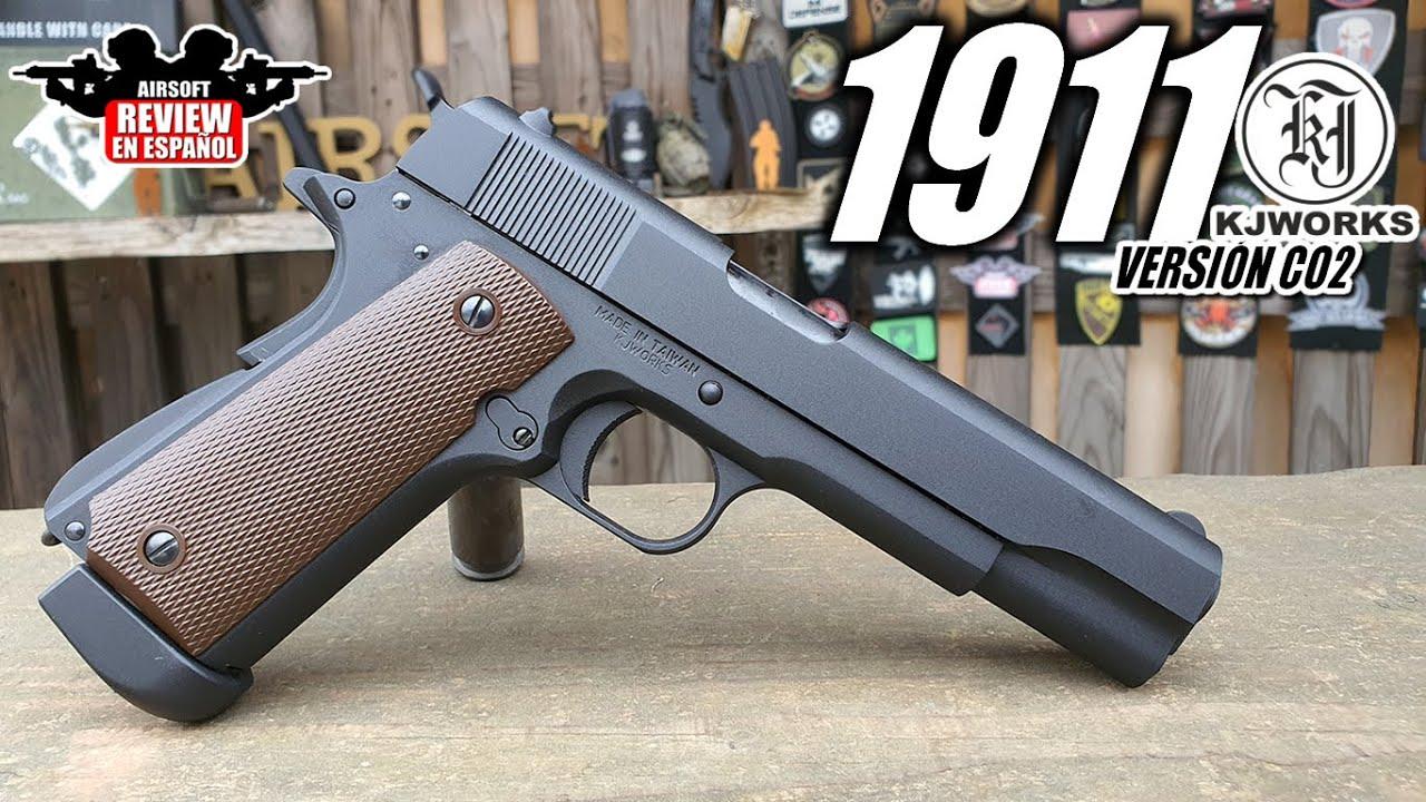 1911 KJW Co2 pistolet dans sa version classique (Test Shot & Chrono) | Revue Airsoft en espagnol