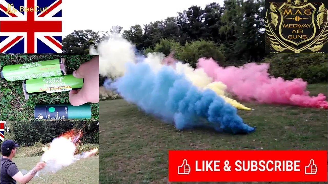 EXAMEN DE LA GRENADE DE FUMÉE AIRSOFT PARTIE 2