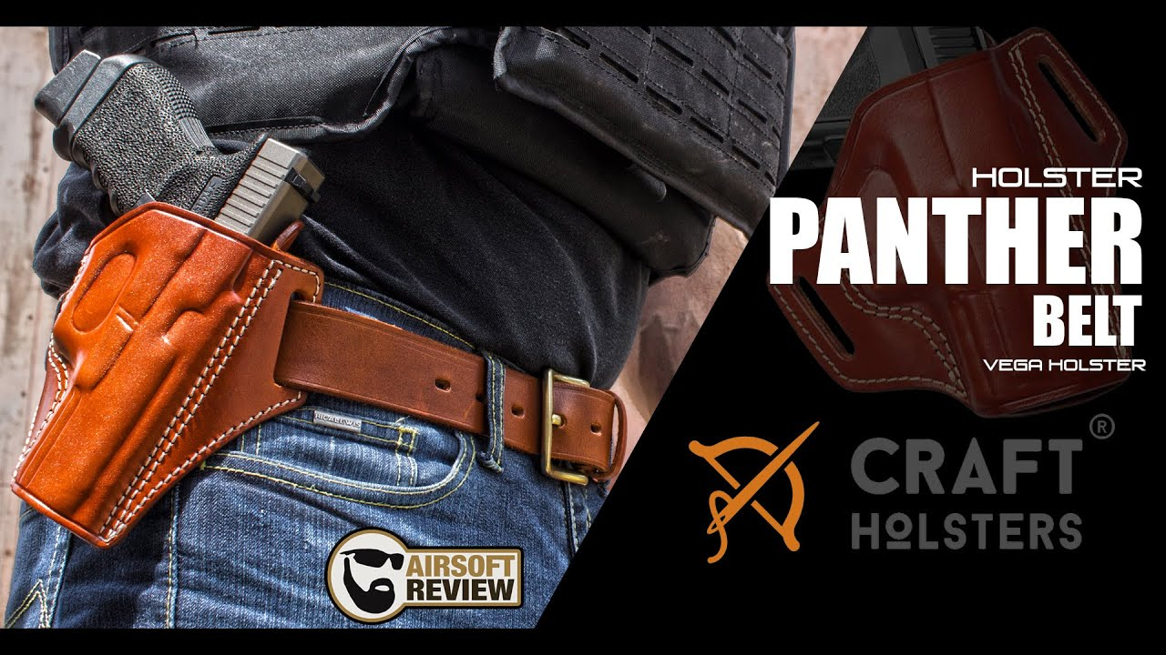 [FR] HOLSTER PANTHER / BELT # CRAFT HOLSTERS / AIRSOFT REVIEW
