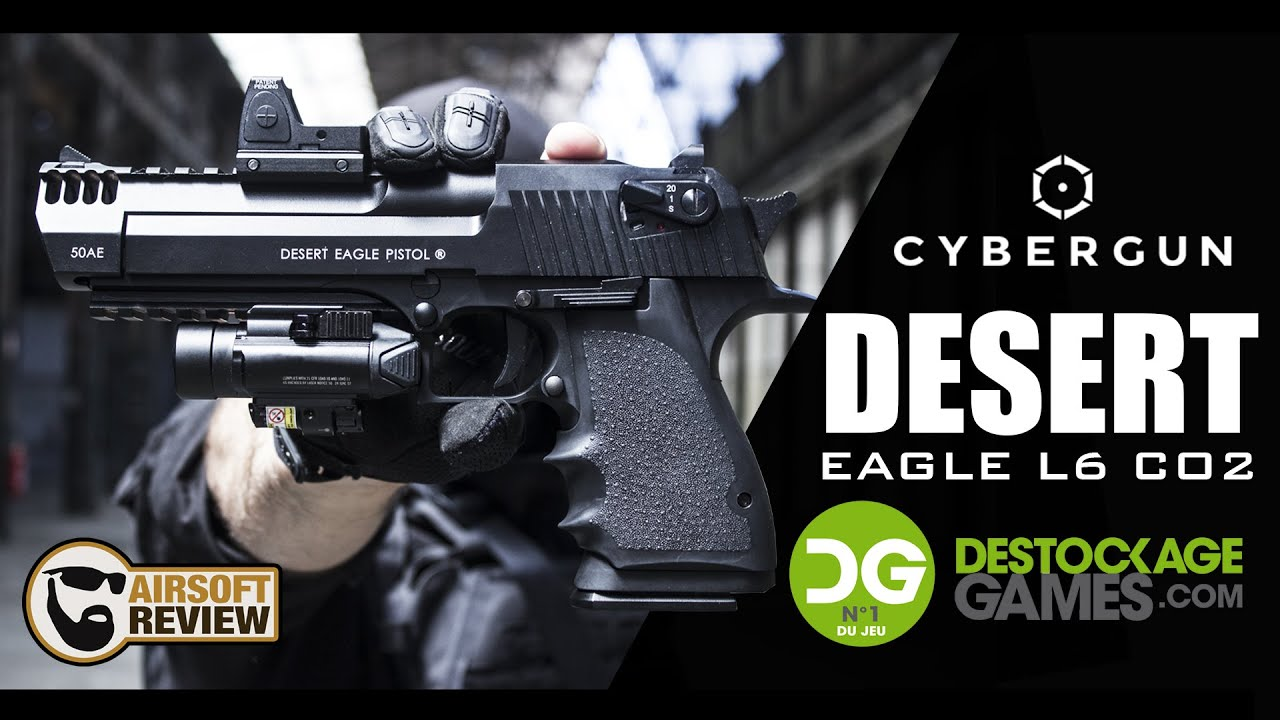 [FR] DESERT EAGLE L6 CO2 # CYBERGUN / KWC # DESTOCKAGE GAMES / AIRSOFT REVIEW