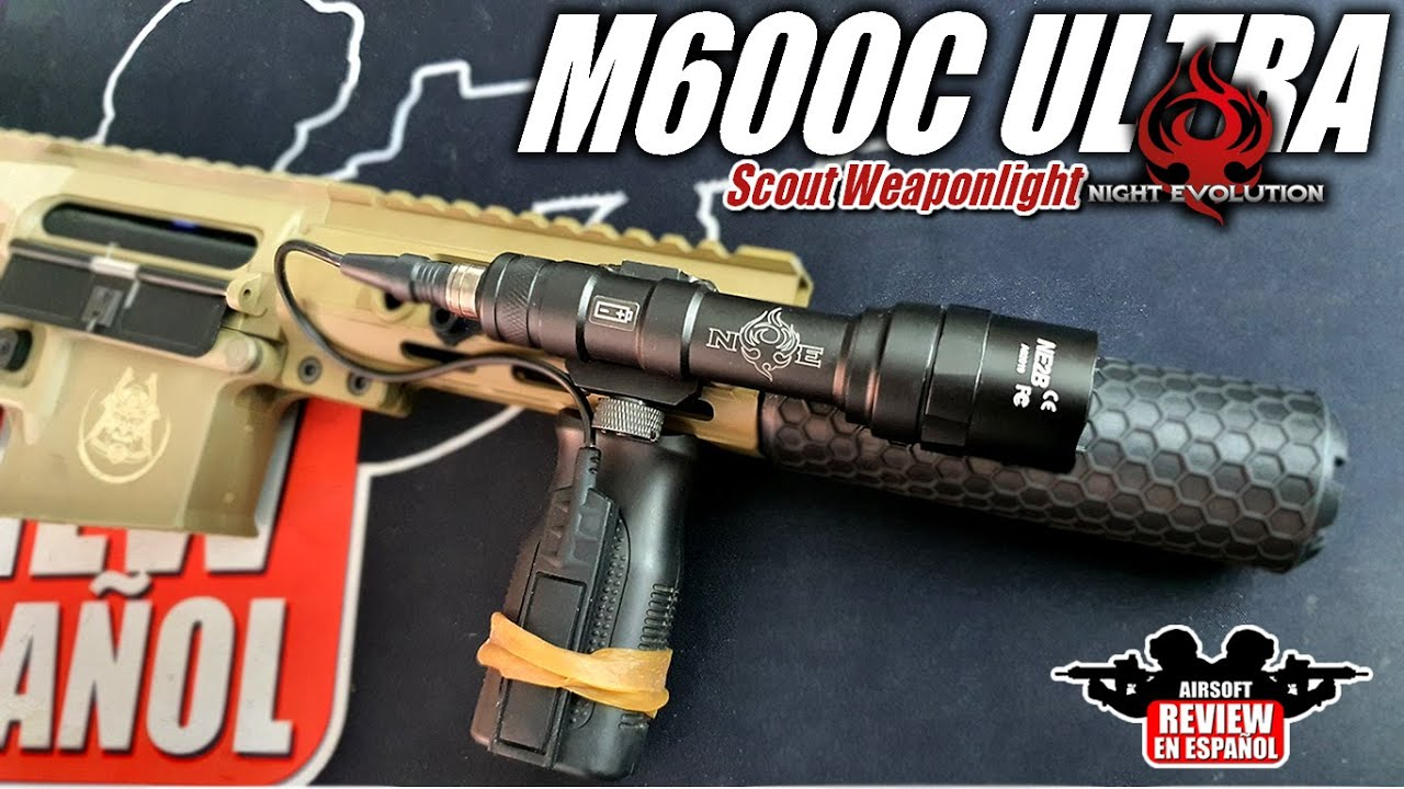 Lampe de poche M600C ULTRA 450 Lumens Scout Weaponlight Night Evolution   Revue Airsoft en espagnol
