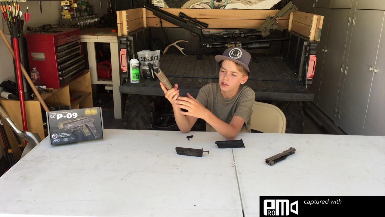 Revue du pistolet Airsoft ASG CZ P-09