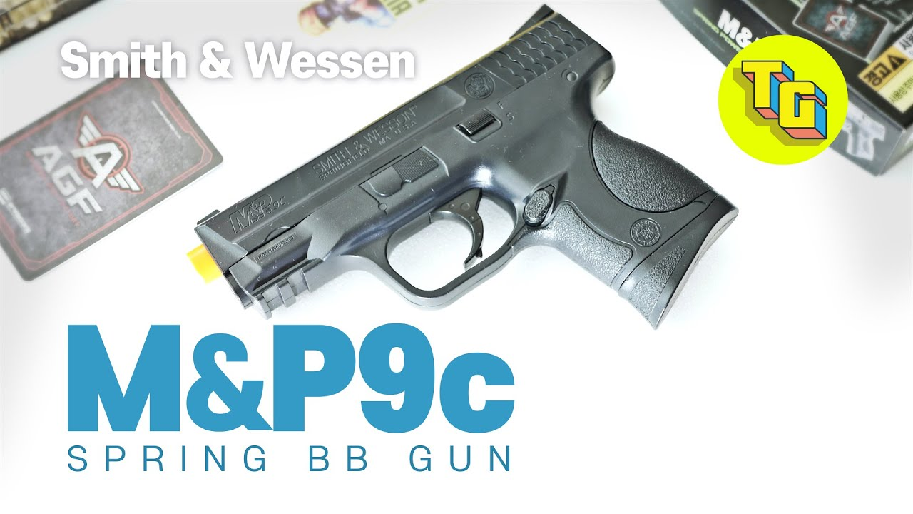 Smith & Wesson M & P9c AIRSOFT SPRING BB GUN REVIEW l Jouets réalistes Pistolets Pistolets