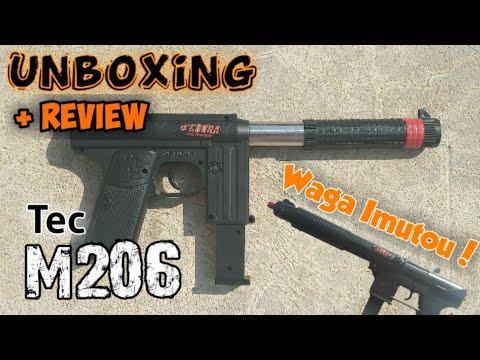 Unboxing + Airsoft Tec M206 évaluation [] Ad mek Tec M306 [] Airsoft indonésien