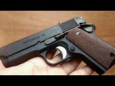 (Airsoft Indonesia) ABAH'S TOYS SHOOTING & REVIEW OF TOKYO MARUI DETONICS (W / METAL SLIDE AND FRAME)