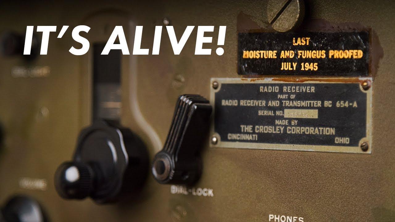 Restauration du récepteur de l'armée de la Seconde Guerre mondiale – Crosley BC-654 Partie 2