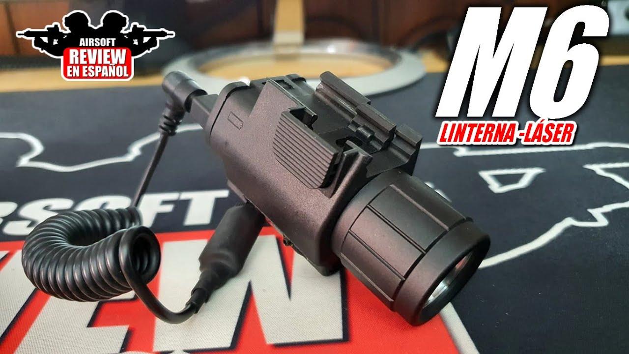 Lampe de poche tactique Led M6 avec laser rouge | Revue Airsoft en espagnol