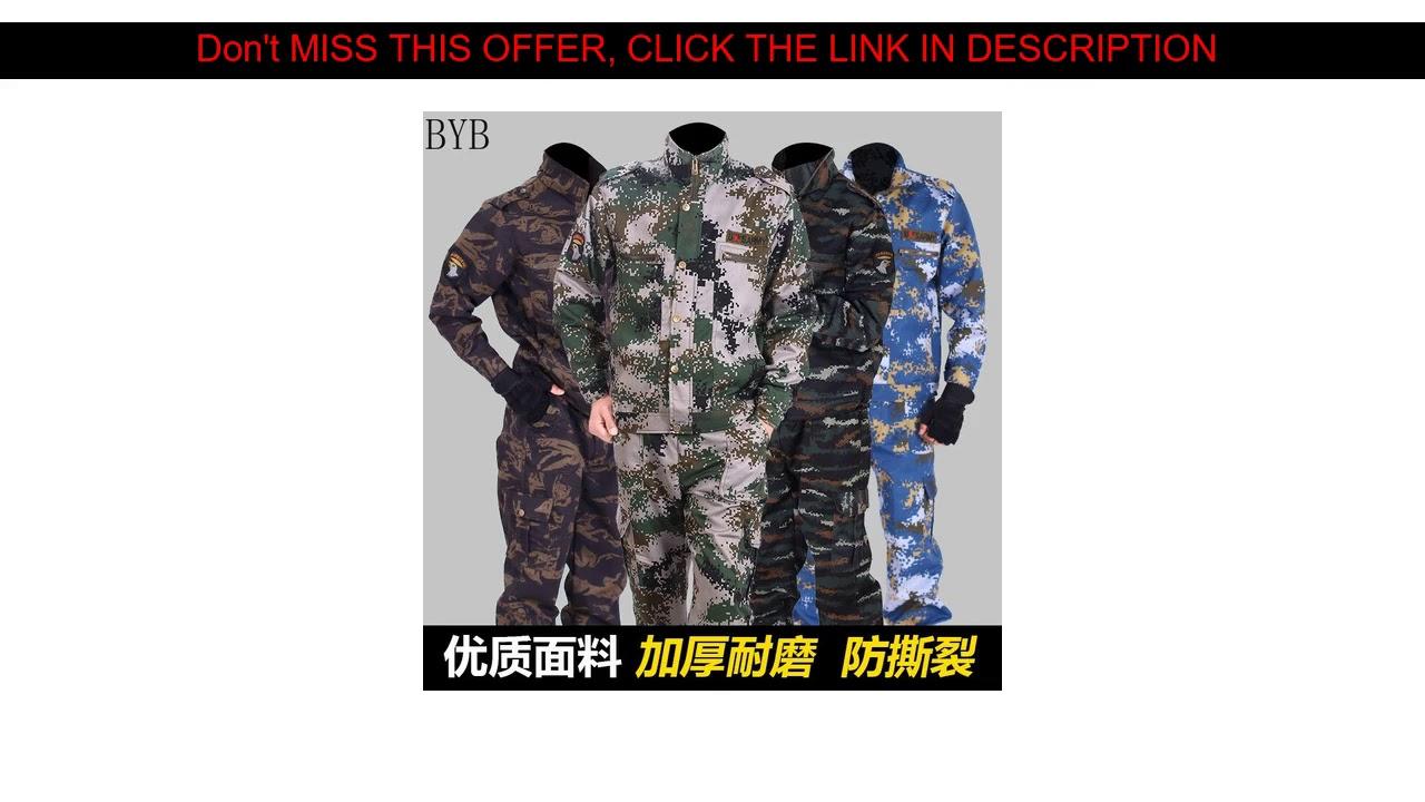 Examen Camouflage Vêtements d'entraînement des forces spéciales résistants à l'usure épais pour hommes Airsoft Tactical Mili