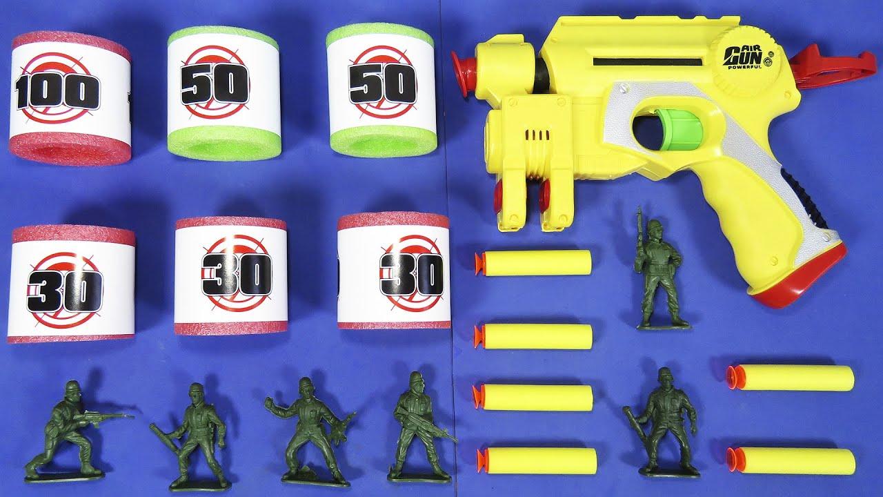 Étui à fusil Airsoft puissant   Fléchettes en mousse souples et sûres   Soldats de plomb   LA REVUE