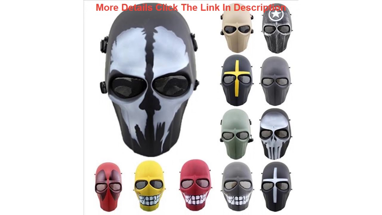 Examen Sniper Skull Mask Airsoft CS Field Protection Full Face Mask Halloween Ball Mask Movie Props