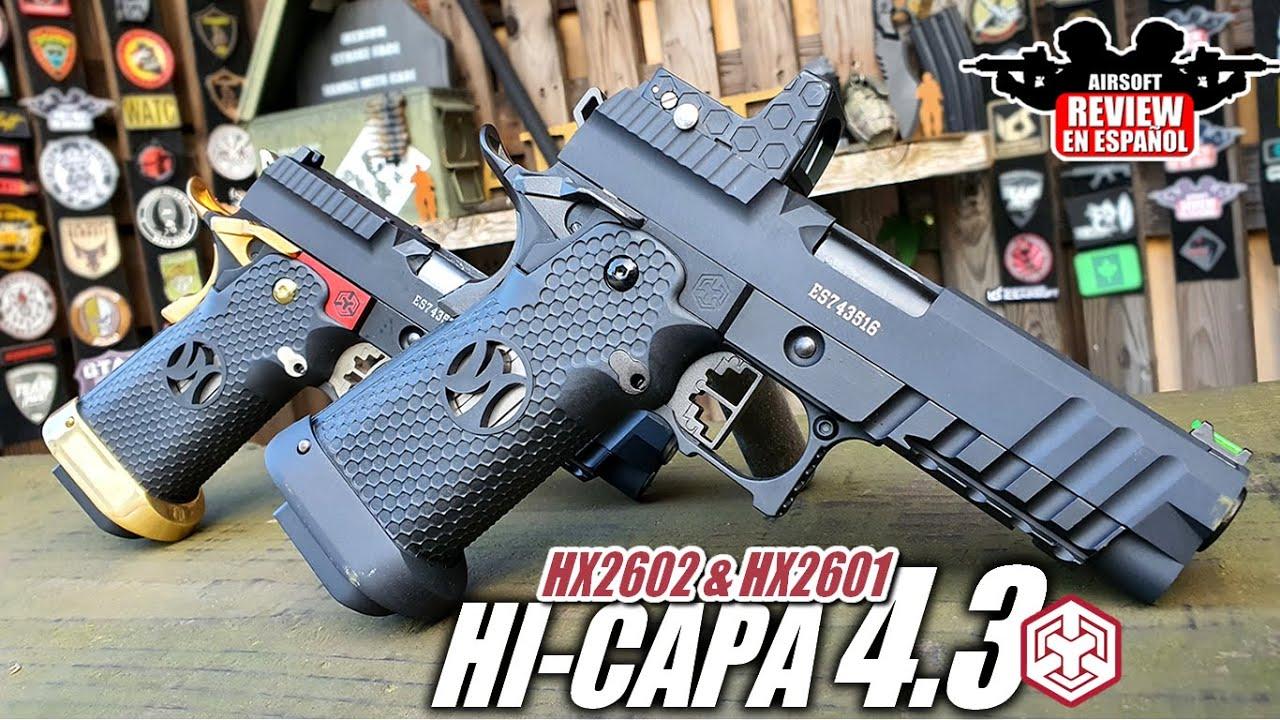 Hi Capa 4.3 HX2601 et HX2602 d'Armorer Works avec RMR | Revue Airsoft en espagnol