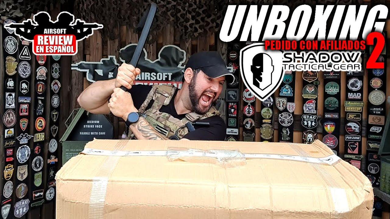 Commandez avec AFFILIATES 2 -Unboxing Live From Shadow Tactical Gear | Revue Airsoft en espagnol