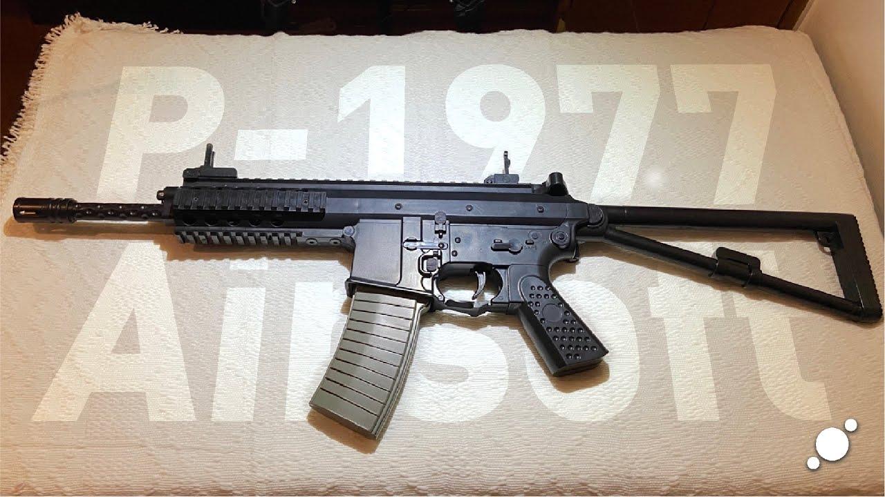 P-1977 Airsoft Gun Review et Unboxing (Lazada) PHP 580 / USD 12. Type de ressort, style KAC PDW.
