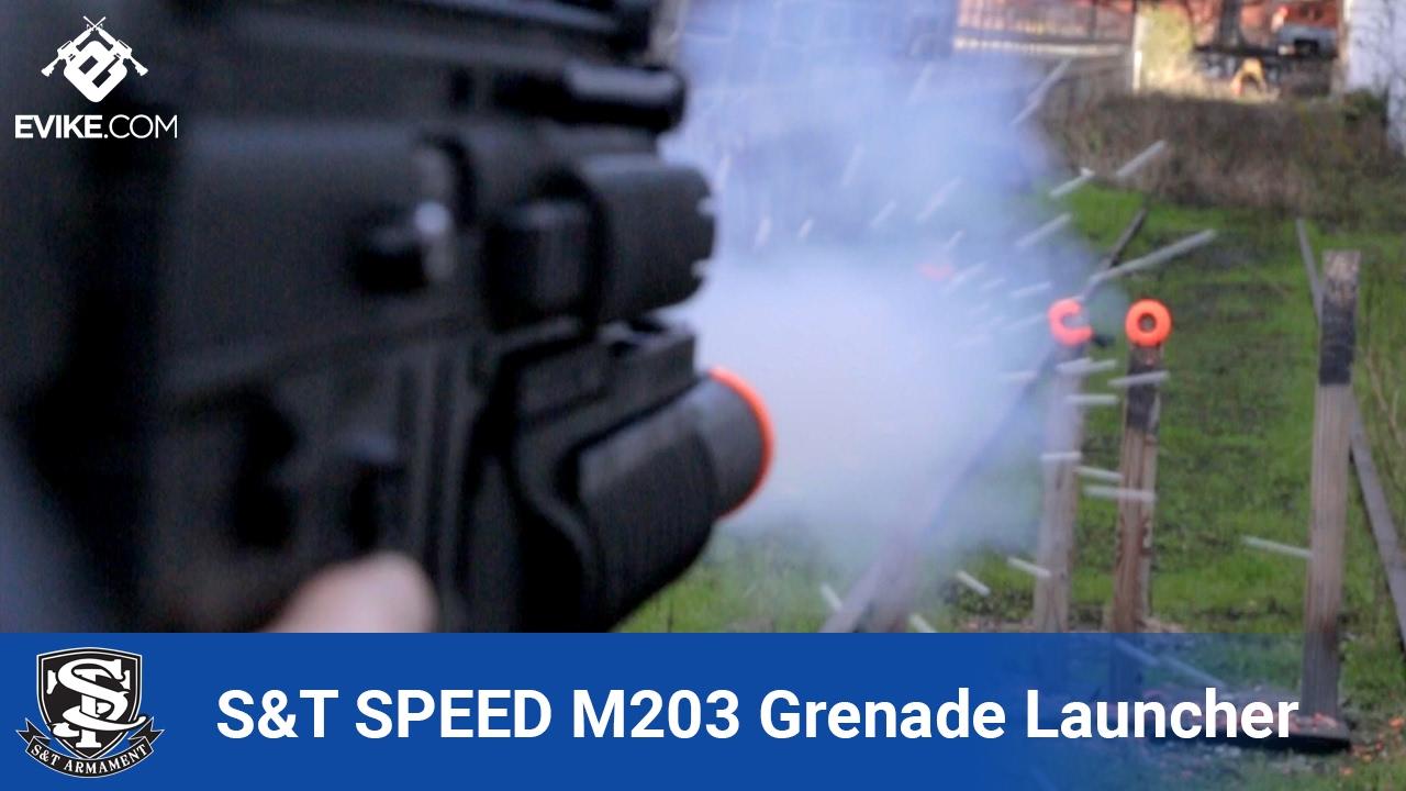 Lanceur de grenades Airsoft S&T SPEED 40mm M203 – Airsoft Evike.com