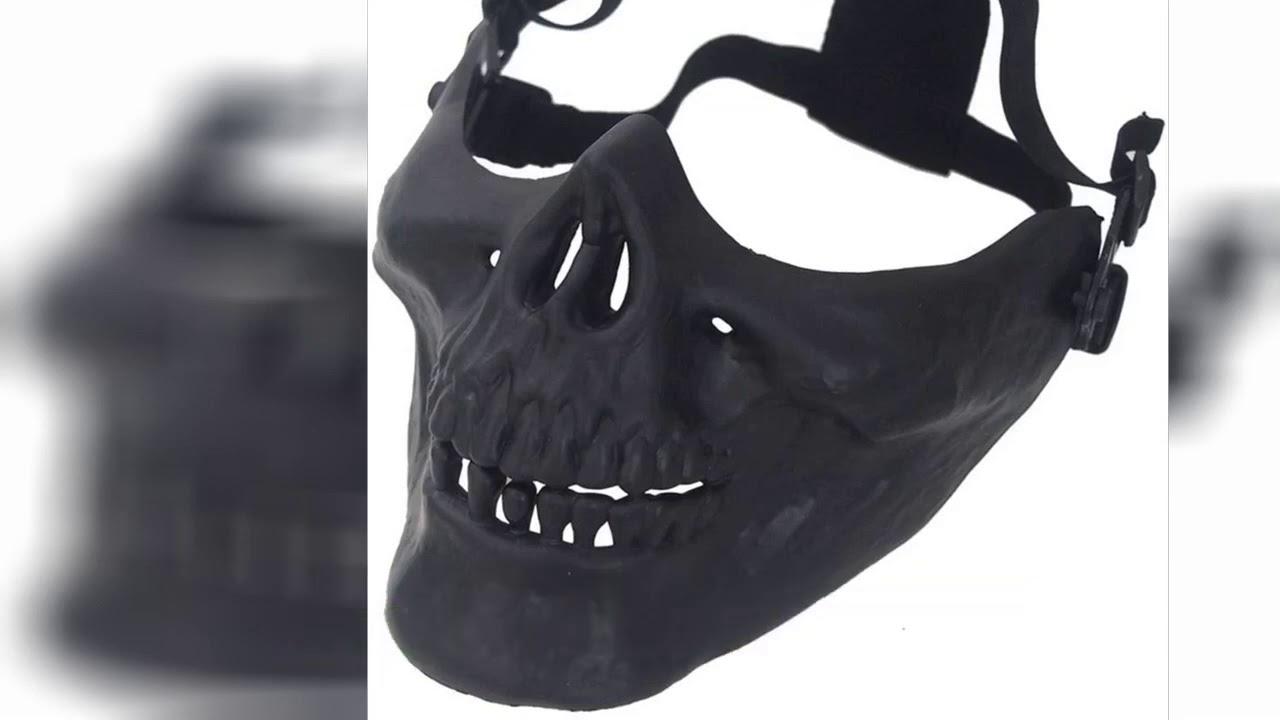 Review: Anyoupin Airsoft Half Face Masques de protection, fournitures de fans de l'armée pour Halloween Airsoft Pa …