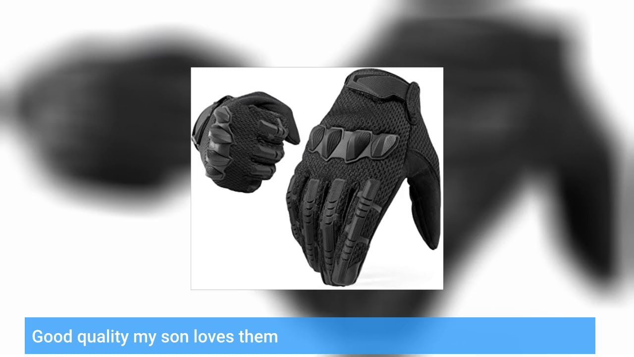 Examen: YOSUNPING Tactical Rubber Knuckle Full Finger Gloves Protection pour Airsoft Paintball R …