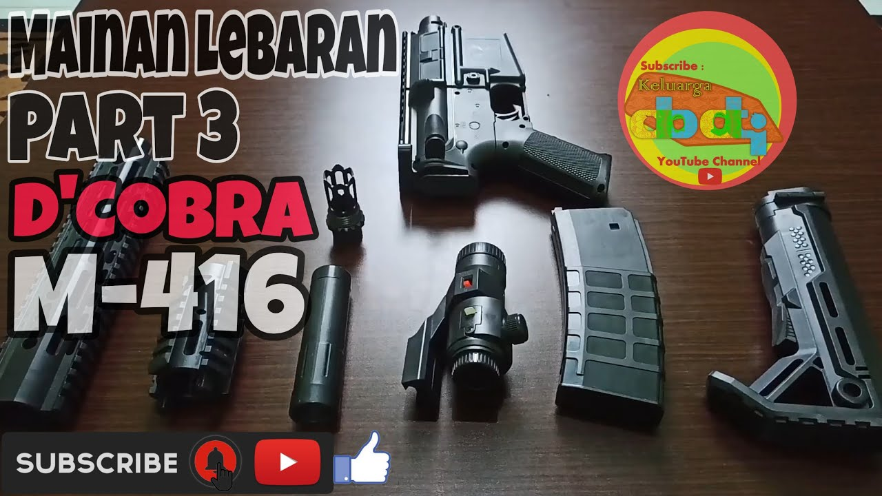 Airsoft Gun Spring dCobra M-416 Review & Unboxing