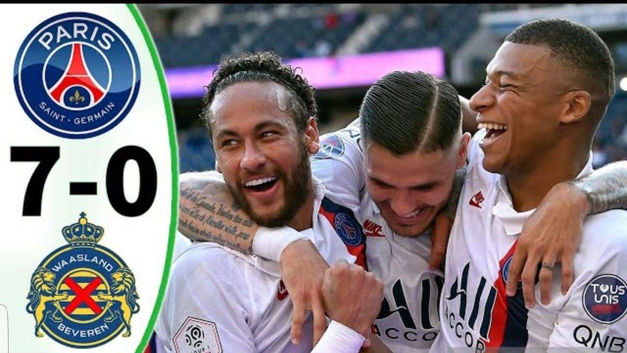 Neymar's Prank Penalty – PSG Vs Waasland Beveren (7-0) TOUS LES BUTS ET TEMPS FORTS ÉTENDUS