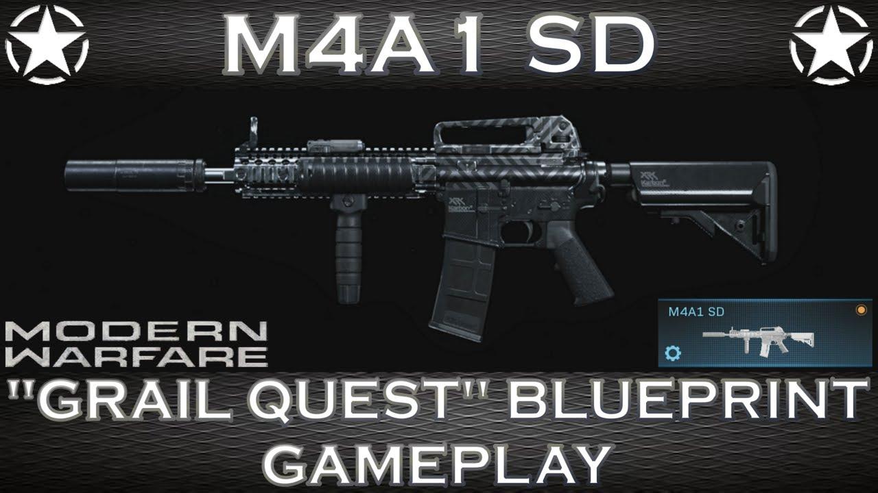 """Plan de jeu de Modern Warfare M4A1 SD """"Grail Quest"""""""