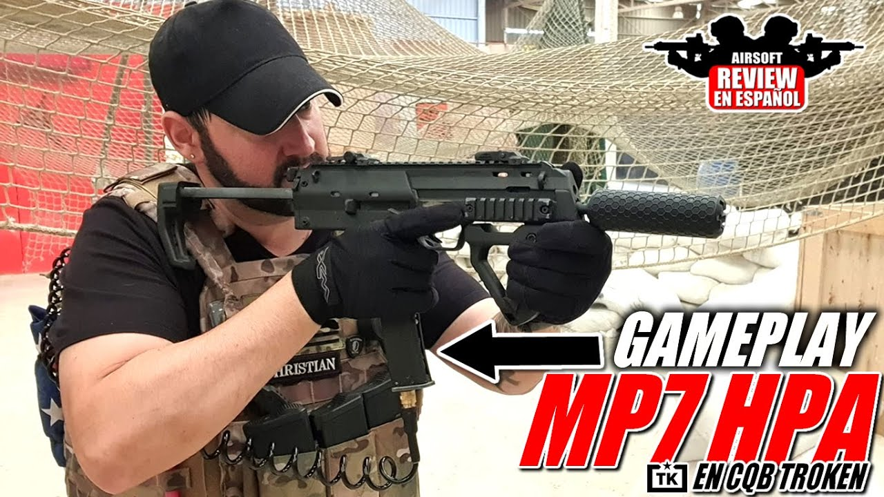 Gameplay MP7 HPA chez CQB Troken – ça va de luxe 👌 | Revue Airsoft en espagnol
