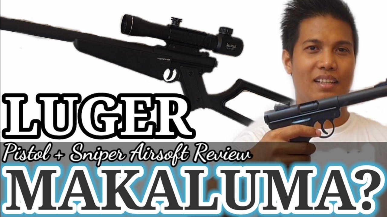 KJWORKS LUGER Pistol et Sniper Airsoft Review