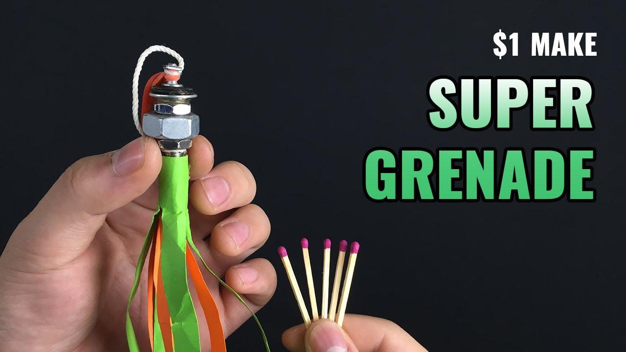 Bricolage 1 $ Super Grenade ✅ – De la valve de moto et des allumettes