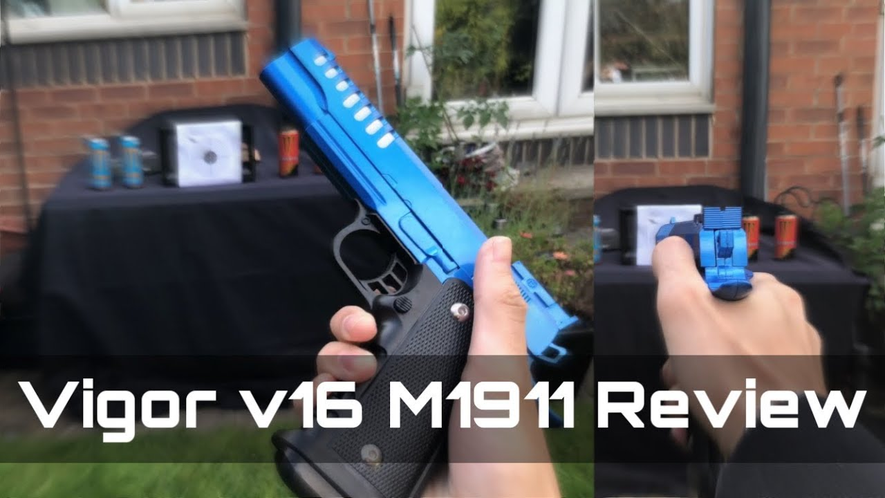 Revue du pistolet Airsoft | Vigor V16 1911 réplique en détail | Examen du pistolet BB