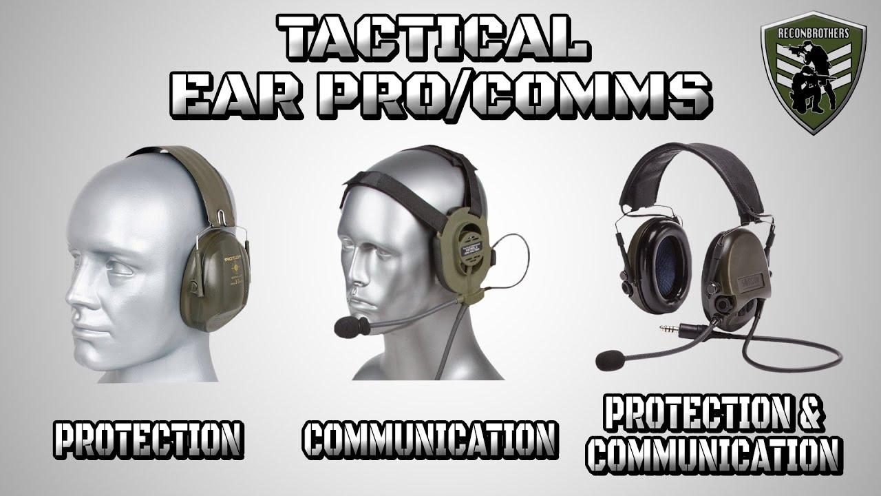 Choisir LA MEILLEURE oreille tactique pro / Comms pour l'armée et l'airsoft