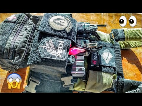 Examen du porte-plaques AIRSOFT + Chest Rig (Raptor Gear)