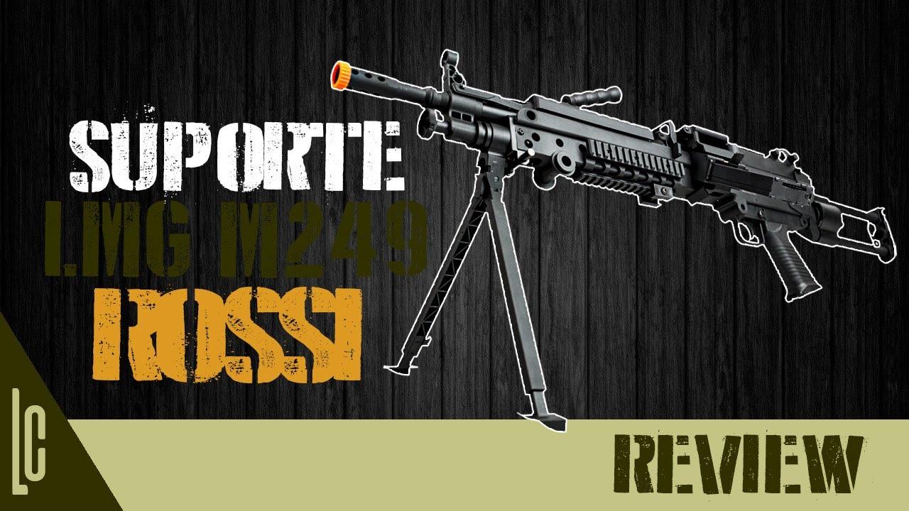 [Review] Assistance Airsoft M249 LMG Rossi – www.LojaDaCarabina.com.br