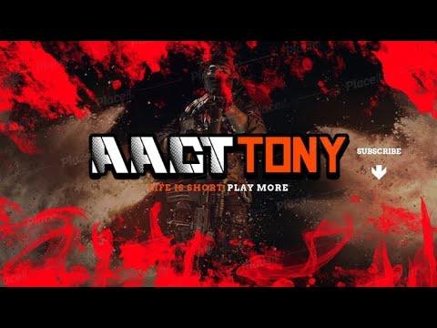 Carte de match personnalisée Aact Gamers Erangle avec le joueur fou AACT TONY sur la voie de la commantry à 500 abonnés