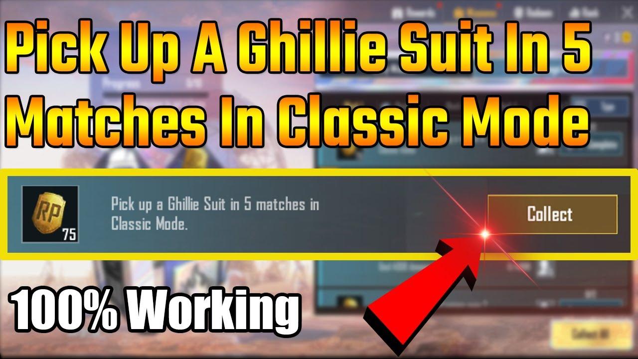 Procurez-vous un costume Ghillie en 5 matchs en mode classique en 1 minute MONIKA