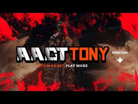 Aact gamers carte de match personnalisée Erangle avec le joueur fou AACT TONY en route pour 500 abonnés